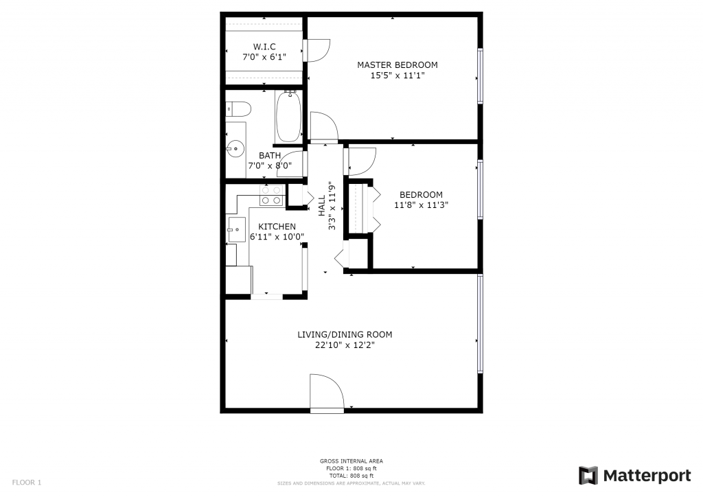 Botsford 2-Bedroom Layout