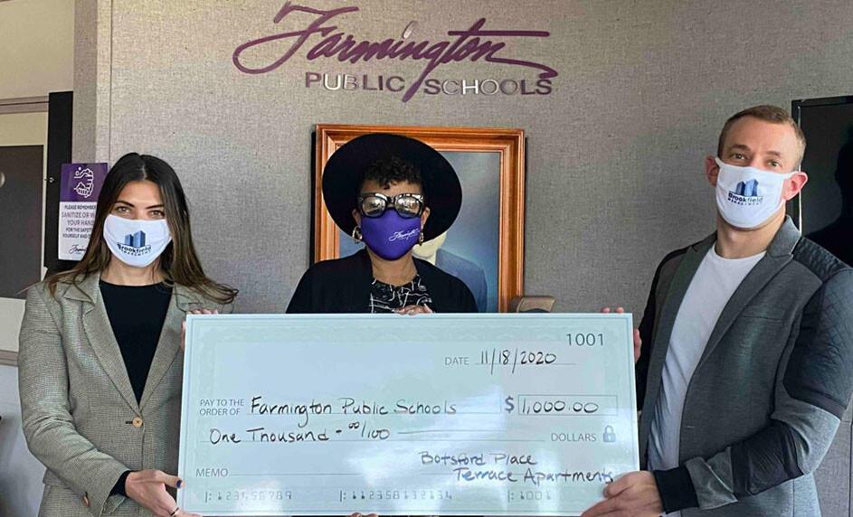 Botsford Place Terrace Apartments Makes Donation To Farmington Public Schools