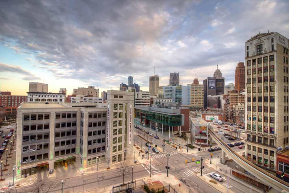 Detroit City Scape