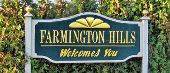 Farmington Hills Welcomes You Sign