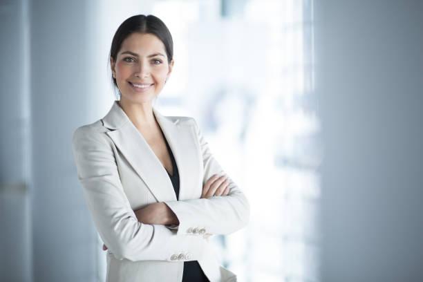 confident woman smiling