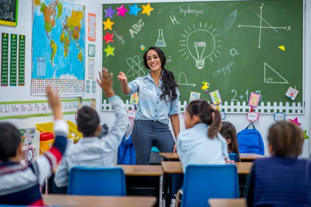 teacher and kids
