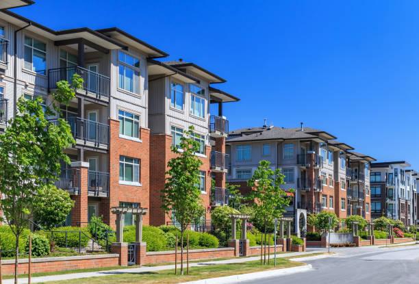 Modern apartment buildings apartment complex